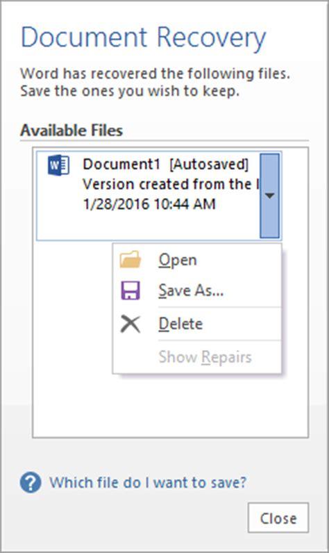 Restore Microsoft Word Document Mac