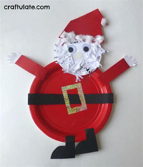Santa Paper Craft - paper plate santa craft craftulate
