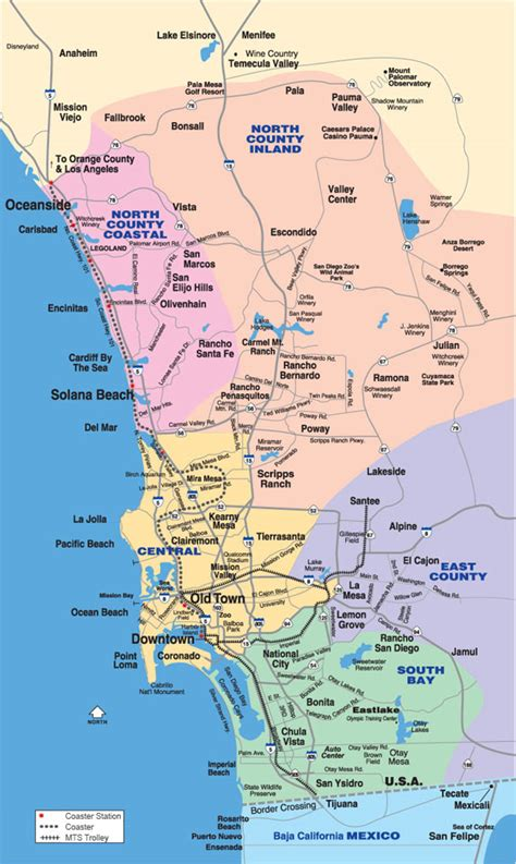 san diego county map neighborhoods use interactive map or list for easy access