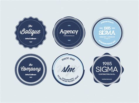 100 Best Free Badges Vector Psd 187 Css Author Badge Illustrator Template