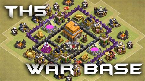 coc layout war base th5 th5 war base 2016 must use youtube