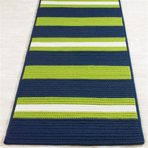 striped indoor outdoor rug 7 6 quot x 9 6 quot carnival