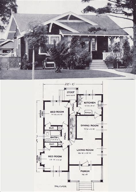1920s bungalow floor plans the palisade craftsman style bungalow vintage house plans of the 1920s