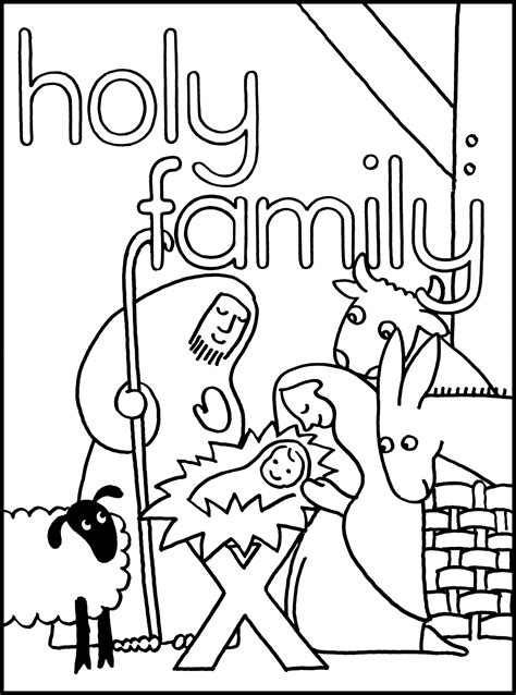 coloring page holy family free ffa emblem coloring pages