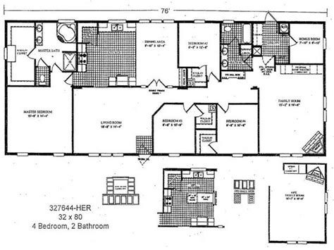 2 bedroom double wide mobile home floor plans http
