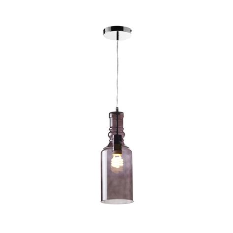 bottle pendant light endon lancaster 1smk 1 light smokey glass bottle ceiling