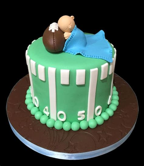 Baby Shower Football Theme by Sugarbabies Custom Baby Shower Cake Gallery Pictures