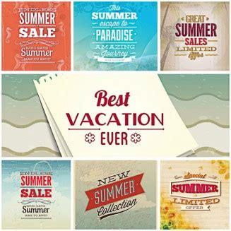 summer slogan illustration set vector