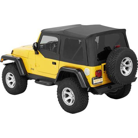 jc jeep wrangler parts bestop soft top new black jeep wrangler 1997 2006 54720 35
