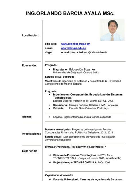 Plantillas De Curriculum Vitae 1 Hoja Modelos De Curriculum Vitae 1 Hoja Modelo De Curriculum Vitae
