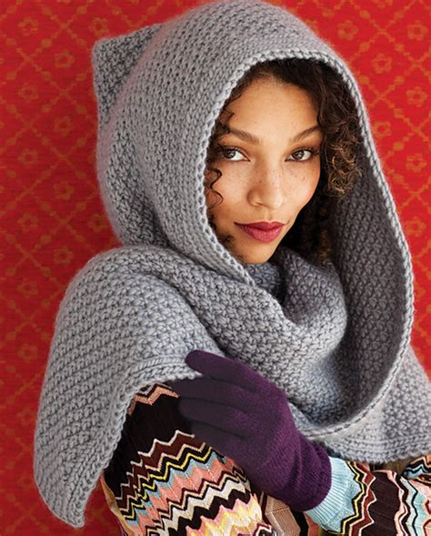 knitting pattern for a scarf with hood 31 must knit hat patterns