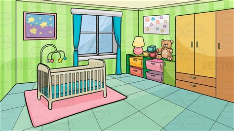 cartoon bedroom a bedroom of a baby background cartoon clipart vector toons