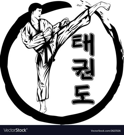 vector image taekwondo royalty free vector image vectorstock