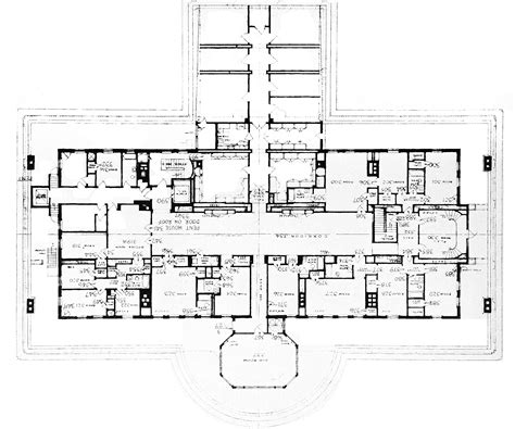 white house floor plans white house third floor plan of the white house in 1952