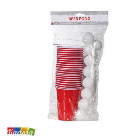 bicchieri giganti pong con 22 bicchieri grandi da 550 ml e 15 palline