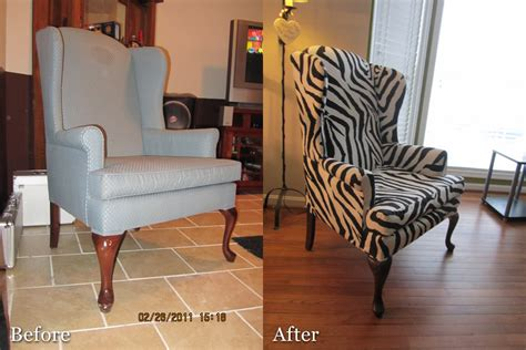Recover A Chair by Diy Recovering A Wingback Chair