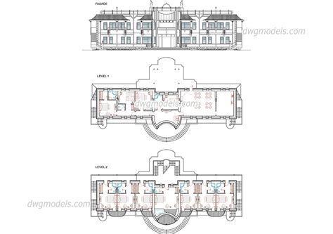 floor plan dwg hotel with storeys d dwg design plan for autocad designs