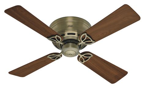 hunter 42 quot low profile iii ceiling fan 23860 in antique