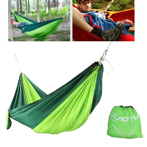 fabric hammock swing double outdoor hammock swing bed portable parachute nylon
