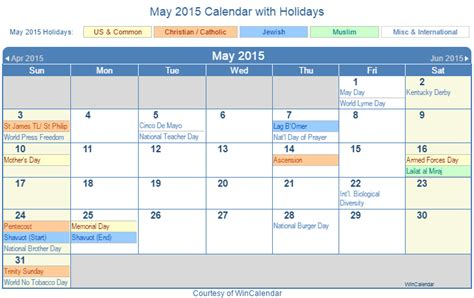 Calendar With Holidays 2015 Calendar 2015 With Holidays Calendar Template 2016