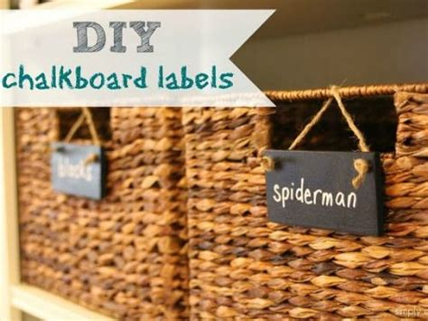 diy chalkboard labels for baskets 17 best images about organisation ideas for on
