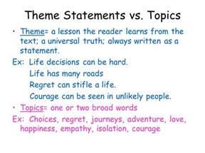 theme statements vs topics ppt