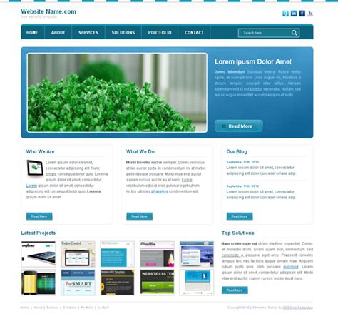 html templates for website with css blue website css template for business website css templates