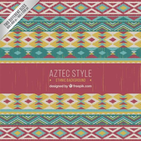 aztec pattern ai ethnic pattern in aztec style vector premium download