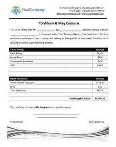 certificate of data template salary certificate template 28 free word excel pdf