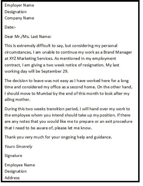 Resignation Letter Going To A Competitor Best 25 Standard Resignation Letter Ideas On Resignation Letter Letter For