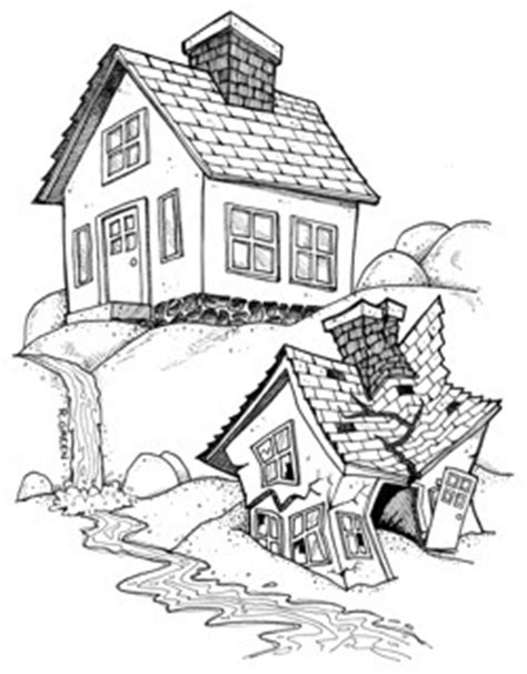 coloring pages house on the rock organized doodles house on rocks vs house on sand