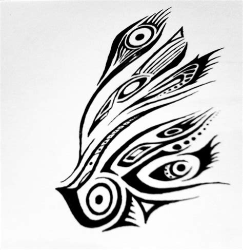 tribal peacock tattoo designs tribal peacock wing by blakskull on deviantart