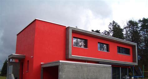 ideacenter kundenmaurer maler und gipser - Fassade Rot