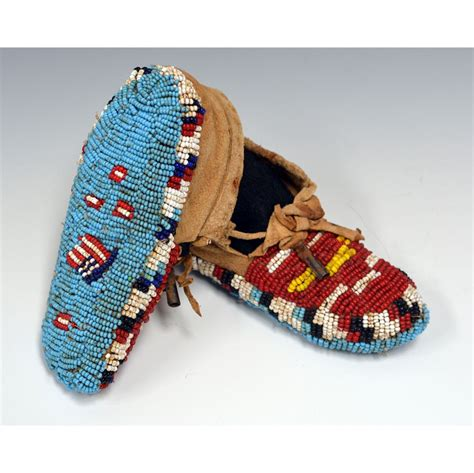 fully beaded pictorial baby moccasins