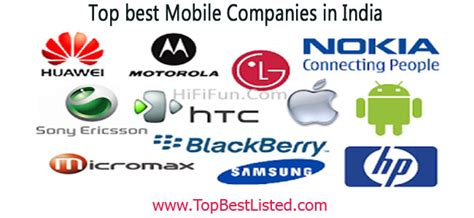 best cell phone company lists of mobile phone companies