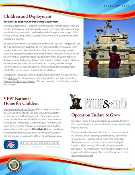 nfaas log on family connection newsletter february 2012
