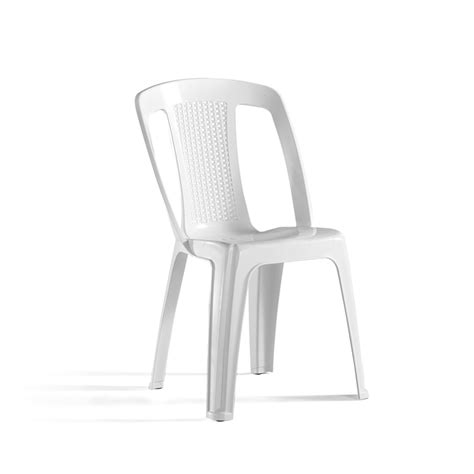 White Plastic Bistro Chairs Marquee White Elba Resin Bistro Chair Bunnings Warehouse