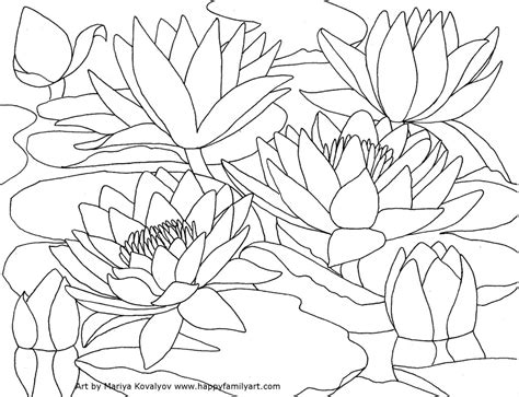 coloring page water lily free coloring pages of water lily flower