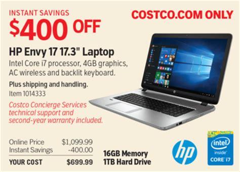 costco deal hp envy 17 17.3in laptop $400 off