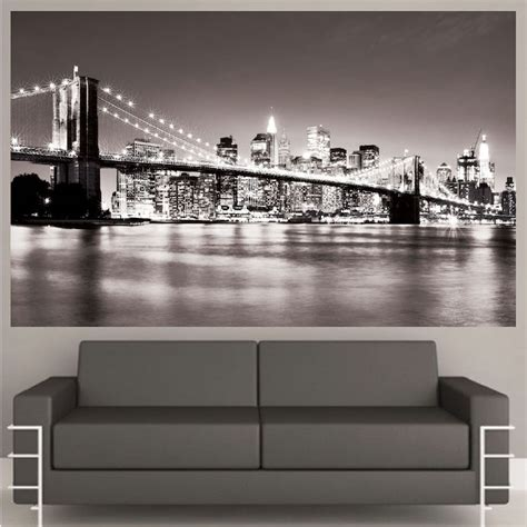new york city wall sticker new york bridge mural decal view wall decal murals primedecals