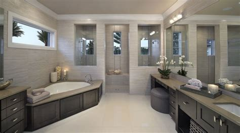 decorating ideas for master bathrooms fresh designs built around a corner bathtub