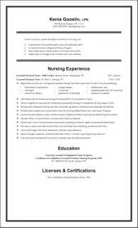 Exle Of Lpn Resume by Licensed Practical Resume Exles