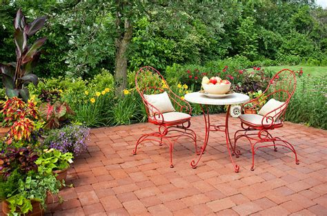 French Patio French Country Garden Traditional Patio Chicago By