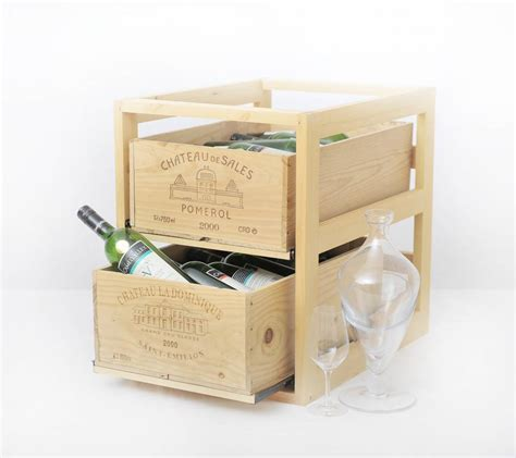 wine rack box xxlselect wine rack box two drawers wood