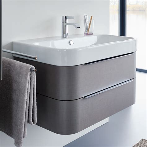 duravit happy d2 625mm wall mounted white vanity unit with