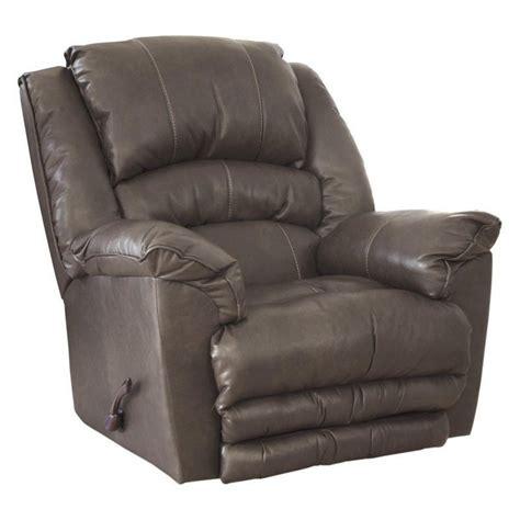 catnapper rocker recliner catnapper filmore leather rocker recliner in smoke