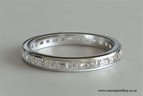 Baguette And Pri Ess Cut Diamond  Ee  Wedding Ee   Ring Or Eternity