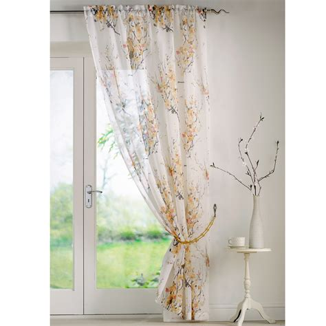 printed voile curtains one flowers printed voile curtain panel ready made 57