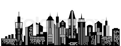 Apartment Building Plans by Cityscape Black Icon On White Background Skyline