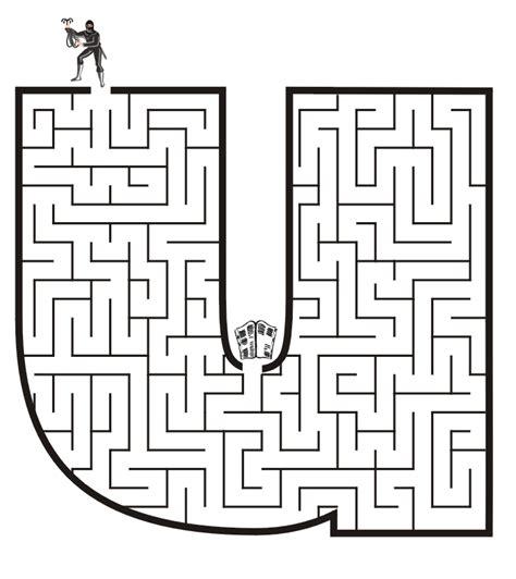 free printable alphabet maze free printable maze for kids lowercase letter u
